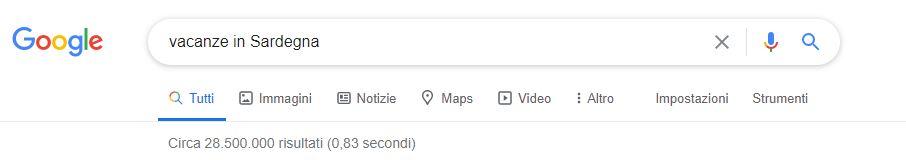 campagne google hotel sardegna
